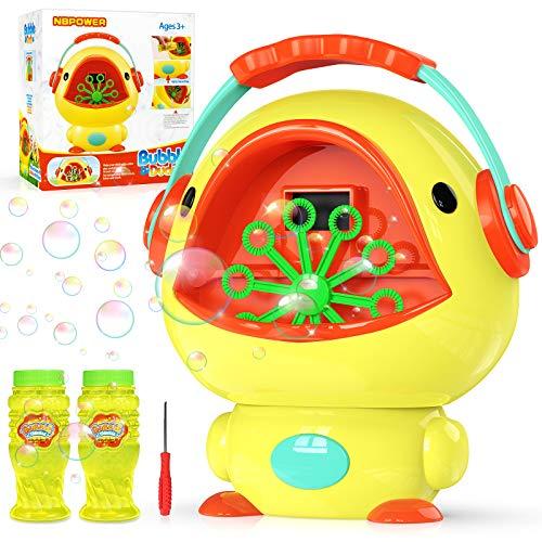 NBPOWER Bubble Machine for Kids, Blows 1000+ Bubbles/Min Automatic Bubble Blower Maker for Toddler