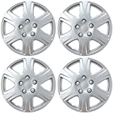 BDK HK993 Silver 15' Hubcaps Wheel Covers for Toyota Corolla (15 inch) – Four (4) Pieces Corrosion-Free & Sturdy – Full Heat & Impact Resistant Grade – OEM Replacement, 4 Pack