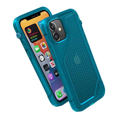 Vibe Series Funda diseñada para iPhone 12 Mini, interruptor de silencio giratorio patentado, compatible con MagSafe, a prueba de caídas de 3 m, sistema de fijación Crux Accesorios, color azul
