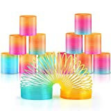 Heatigo 12pcs treppenläufer spirale Rainbow Spiral Springs Rainbow for Party Bag Fillers Toy...