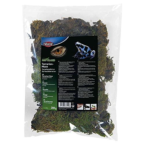 Trixie 76155 Terrarienmoos, Substrat für Feuchtterrarien, 200 g
