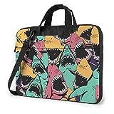 15.6″Durable Hombro Mensajero Bolsa maletín PC Tiburón sin Costuras Moda Impermeable Ordenador Portátil/portátil/Tablets