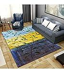alfombras de habitacion pequeñas Alfombra de patrón Floral Verde, fácil de Mantener el Mecanismo Moderno Casual Alfombra alfombras Grandes para Salon -Verde_180x280cm