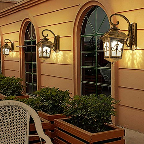 Wandlamp, kristal, spiegel, buitenverlichting, lantaarn, verlichting, aluminiumlegering, retro, klassiek, glas, wandlamp, industriële lamp, vintage, villa, binnenplaats, park.