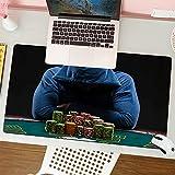 Office-Gaming-MauspadCasino Gambling House Gamestar Hardened Gambler JetonOffice-Mauspad mit Lederoptik, Rutschfester Unterseite