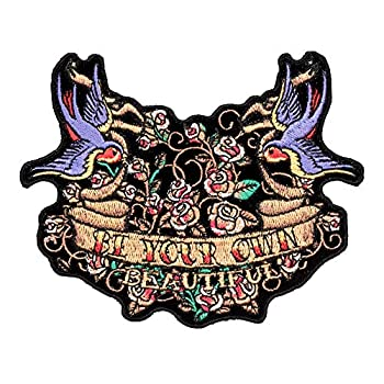 Be Your Own Beautiful Bluebird Tattoo Patch Small Size