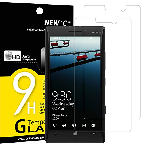 NEW'C 2 Pezzi, Vetro Temperato Compatibile con Nokia Microsoft Lumia 930, Pellicola Prottetiva Anti Graffio, Anti-Impronte, Durezza 9H, 0,33mm Ultra Trasparente, Ultra Resistente