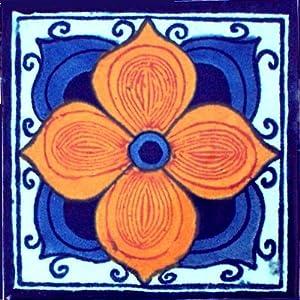 Fine Crafts Imports 2x2 36 pcs Marigold Talavera Mexican Tile