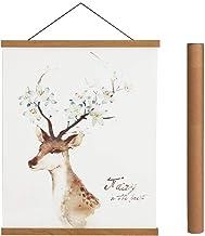 Magnetic Poster Hanger Frame, 33x24 33x23 33x47 Light Wood Wooden Magnet Canvas Artwork Print Dowel Poster Hangers Frames ...