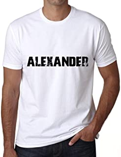 ULTRABASIC ® Proud Family Last Name Men's T-Shirt Surname Gift Ideas Tee ALEXANDER White