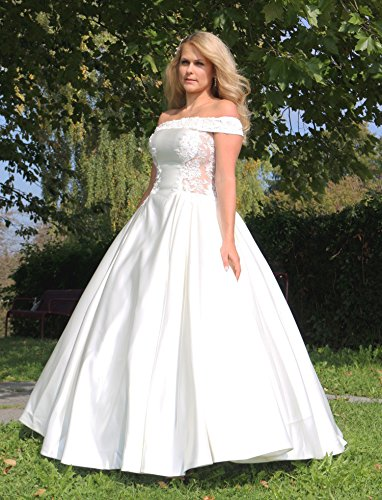 Luxus Brautkleid Hochzeitskleid Weiß nach Maß - 8