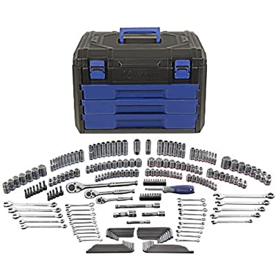 Kobalt 227-Piece Standard/Metric Mechanics Tool Set with Case 85183 from Made In Taiwan