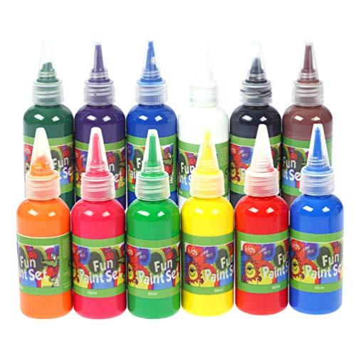 SUPVOX 12 colores 60 ml de pintura de acuarela líquida para niños regalo artesanal