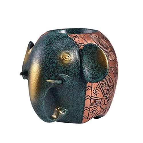 DWQ Titular de la Pluma de la Moda, el Organizador de la Pluma del Elefante del Escritorio Lindo, el Soporte de lápiz de Gran Capacidad para el Escritorio/Oficina/Estudio (Color : Green)