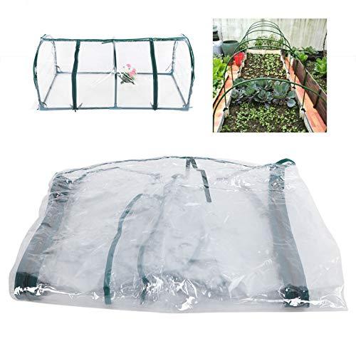 DD&Eren PVC Transparente de tamaño pequeño Cubierta de sombrilla Tienda para Flor de Planta de jardinería de Invernadero Toldo de Cubierta Transparente 120 * 60 * 48cm