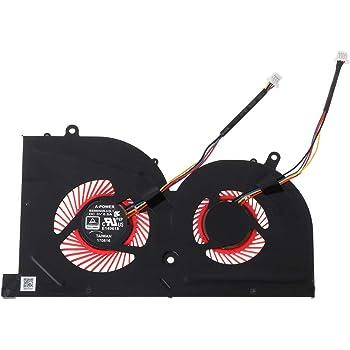 Tonysa Mini Ventilateur Refroidissement PC PC Cooling Fan Portable pour Les s/éries MSI GS63VR et GS73VR de Haute Qualit/é pour Ordinateur Portable Interface: Connecteur /à 4 Broches| Neufs