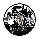 wtnhz Reloj de Pared con Disco de Vinilo LED Reloj de Pared Vintage con Disco de Vinilo Reloj De Pared De Vinilo Home Record Vintage Decoration