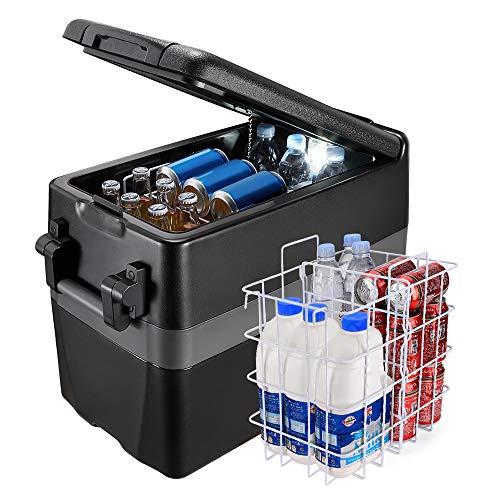 JOYTUTUS Portable Car Refrigerator, 42 Quart/40L 12 Volt Car Fridge Electric Compressor Cooler for Van Truck RV Boat, AC/DC Portable Freezer (-4℉~50℉) for Car Vehicles Camping Road Travel and Home