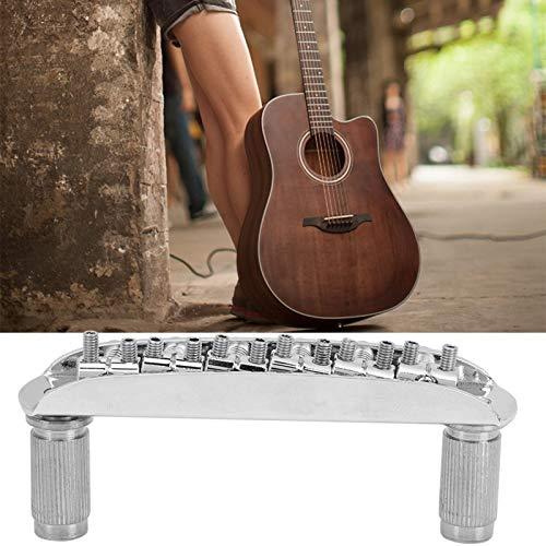 Brücke vollständig einstellbar J Master Bridge Perfekte Intonation Schwarz, Silber Optional Beinhaltet Karosserie-Anker als Ersatz für Gitarren(Silver)