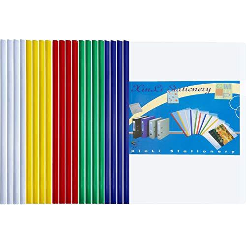 Carpeta A4 Transparente 20 Unidades Carpetas Plastico Dossieres Transparentes Carpeta Sobre con Almacenamiento de Documentos