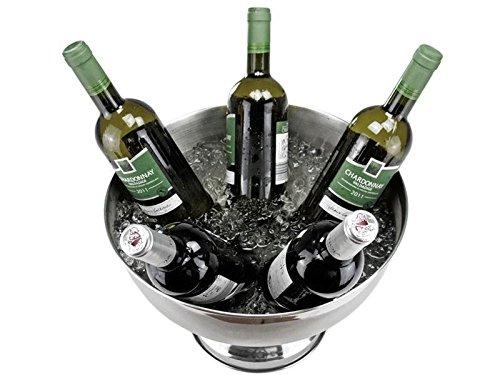 cookado.de Ciotola in Acciaio Inox per Champagne, Vino, Bottiglie