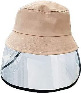 Cumwoen Kids Sun Visor Hat Anti Saliva Full Shield Bucket Dustproof Hat
