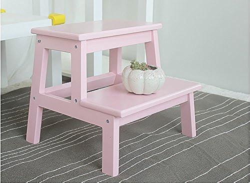 H erner fester 2 Schritt Schemel-h erner Schemel-Bank-Schuh-Badezimmer-Schemel (Farbe   Rosa, Größe   L)