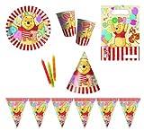 Procos 412255 Kinderpartyset Winnie Pooh Alphabet
