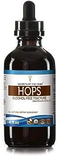 Hops Tincture Alcohol-Free Liquid Extract, Organic Hops (Humulus Lupulus) Dried Flower (4 FL OZ)