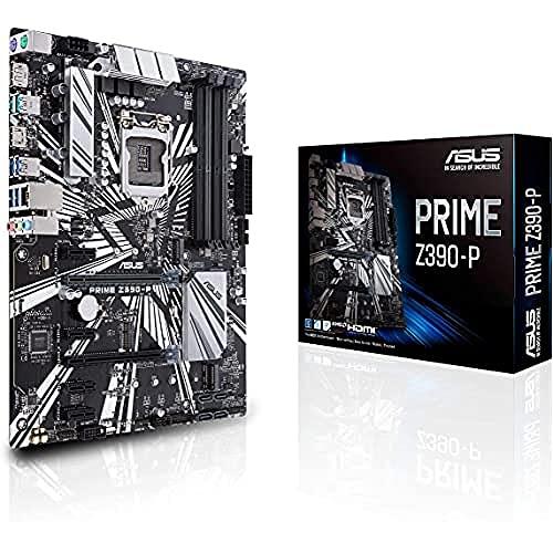 ASUS Prime Z390-P Carte mère Intel LGA 1151, ATX, minage de crypto-monnaie (Bitcoin) avec décodage supérieur à 4G, DDR4, 2xM.2, HDMI, Intel Optane, SATA 6Gb/s, USB 3.1 Gen 2