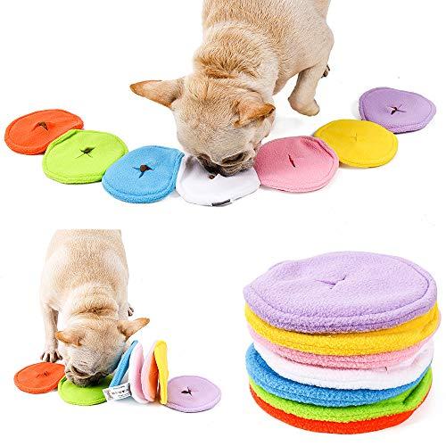 SearchI Schnüffelteppich Hund intelligenzspielzeug Riechen Trainieren Schnüffeldecke Schnüffelspielzeug Hundespielzeug Futtermatte Trainingsmatte für Haustier Hunde