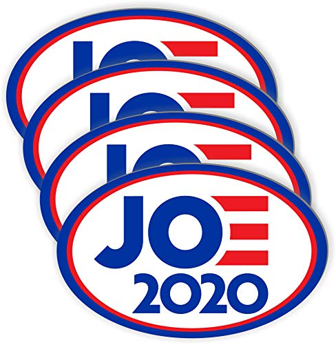 work house signs 4 Pack Joe Biden for President 2020 Bumper Sticker Decal Oval 5.5