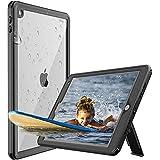 iPad 10.2インチ 防水ケース アイパッドカバー 2019 第7世代 耐衝撃 IP68防水規格 完全防水 薄型 軽量 全面保護 スタンド機能 安心感 ストラップ付き アウトドア お風呂 プール キッチン 耐衝撃カバー 薄型 アイパッド ストラップ付き お風呂 アウトドア A2197 / A2200 / A2198 適用 iPad 10.2 防水カバー (10.2インチ)