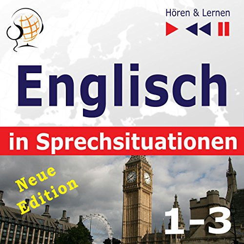 Englisch in Sprechsituationen 1-3 - Neue Edition - A Month in Brighton / Holiday Travels / Business English. 47 Konversationsthemen auf dem Niveau B1-B2 Titelbild