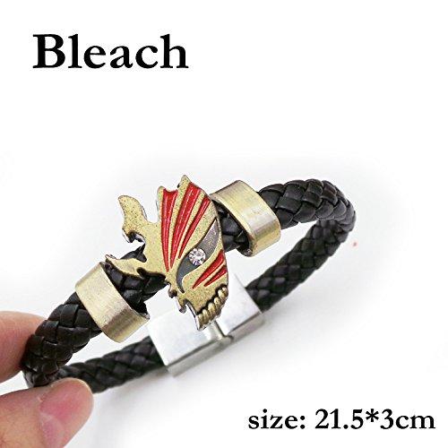 SUNKEE Bleach Cosplay Kurosaki Ichigo Maske Armband Figur Spielzeug Cosplay Requisiten (Bleach)
