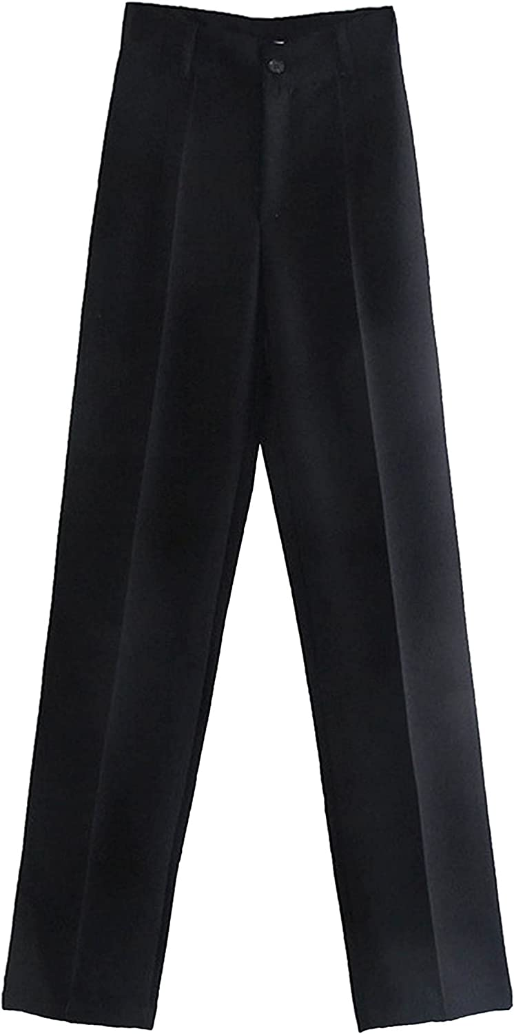 JEEYJOO Women's High Waist Formal Suit Pant Casual Loose Comfy Work Office Trousers