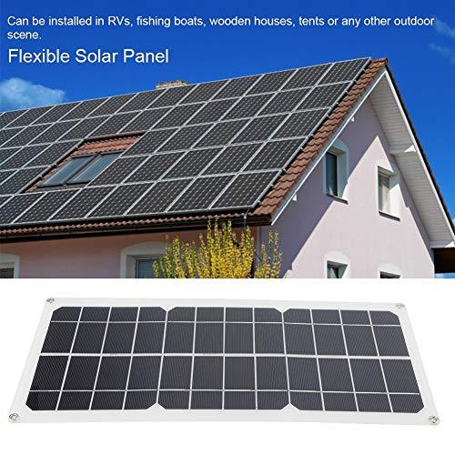 Flexibel zonnepaneel, 10 W, clipkabel, oplader op zonne-energie, monokristallijne zonnepanelen, zonnepaneel voor boot, caravan, camper, 18 V batterijen, 30 graden gebogen