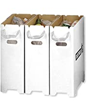 【Amazon.co.jp限定】 撥水加工 汚れに強い おしゃれ で スリム な ダンボール ダストボックス 分別 ゴミ箱 セット (20リットル 45リットル ゴミ袋 対応)
