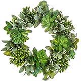 "Hobby Lobby Bella Vita 10"" Artificial Green Leaf Succulent Wreath"