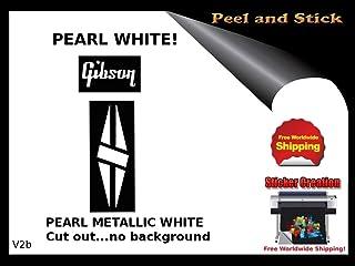 Gibson Guitar Decal Sticker Peel and Stick Headstock Restoration logo v2b