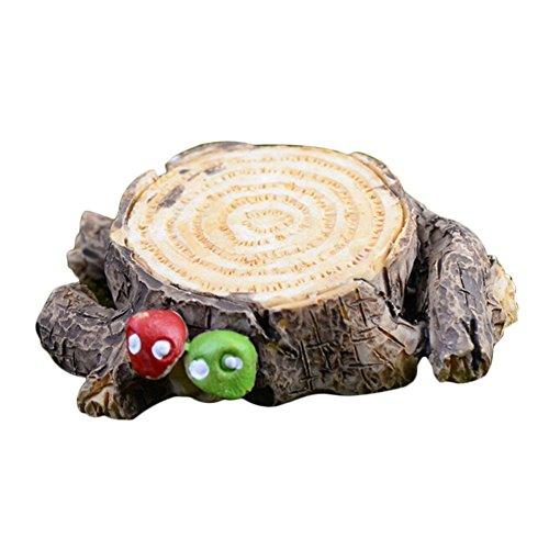 Lameida Jardin Féérique miniature Mini Tabouret en bois Ornement Dollhouse Pot de fleurs figurine DIY Craft pour jardin extérieur Décoration de maison 1 * 4 cm, Résine, gris, Small