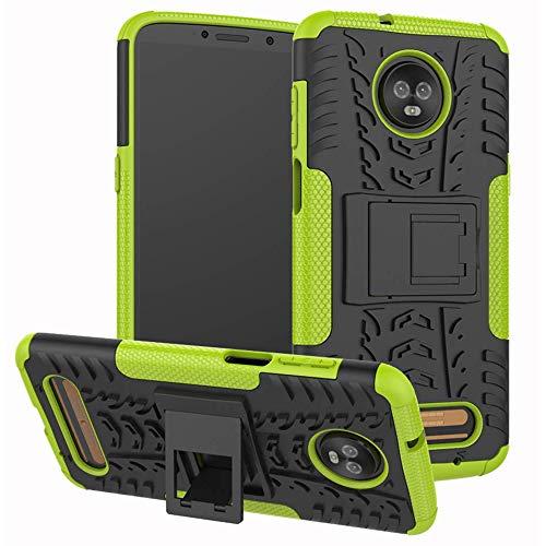 Lapinette Cover Compatibile con Motorola Moto Z3 Play Antiurto - Custodia Moto Z3 Play Protezione Antiurto - Protezione Motorola Moto Z3 Play Cover Antiurto Robusta Modello Spider Verde