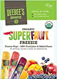 DeeBee's 100% Organics Super Fruit Freezie Frozen Juice Bars - Grape, Strawberry and Tropical Fruit Popsicles - Nut, Gluten and Dairy-Free, No Added Sugars - Vegan,Kosher and Non-GMO 30 Pack