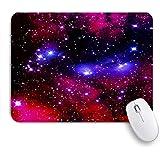 PATINISAマウスパッド Galaxy Theme Nebula Universeマジカルファンタジースタープリント ゲーミング オフィス おしゃれ 良い 滑り止めゴム底 ゲーミングなど適用 マウス 用ノートブックコンピュータマウスマット
