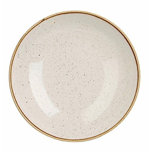 Churchill Stonecast Round Coupe Bowl Barley White 220mm (Pack of 12) - [DK522]