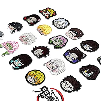 OYSTERBOY Demon Slayer Kimetsu No Yaiba Blade of Demon Destruction Characters Good Quality Threads Embroidered Iron On/ Sew on Patches  20Pcs Cute Characters