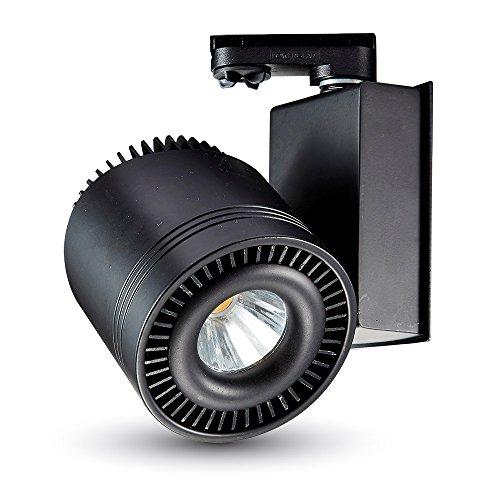 V-TAC vt-4535 intérieur/extérieur 33 W Noir – Point de lumière (intérieur/extérieur, brossé, rond, lED, blanc neutre, iP20)