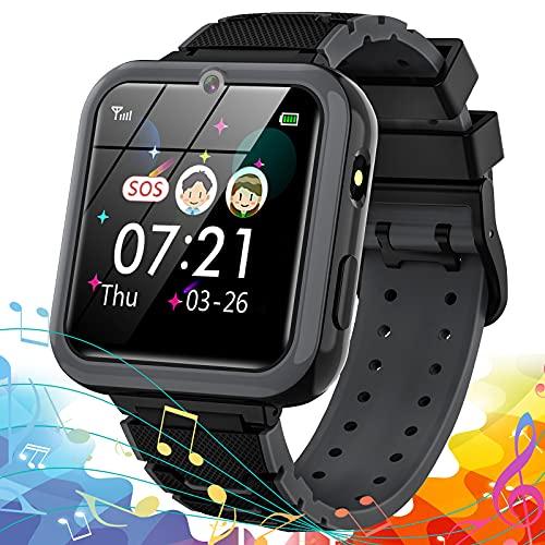 Reloj Inteligente para niños, Smartwatch teléfono para Niño con 7 Juegos SOS Música Despertador Cámara Alta definición Calculadora Grabadora Linterna, Reloj para niñas niño 3-14 Años Regalo