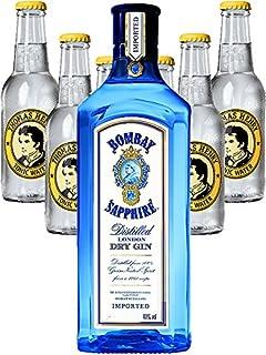 Bombay Sapphire Gin 0,7 Liter  6 x Thomas Henry Tonic Water 0,2 Liter