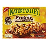 Nature Valley Barra de proteína suave de maní y chocolate recubierta de chocolate - 1 x 160 gramos (4 barras)
